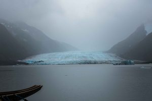Spencer Glacier, in the rain