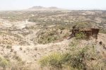 Looking down from Olduvai Gorge Museum